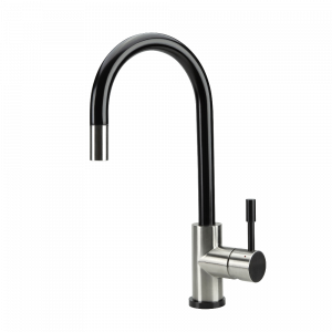 SWEDIA KLAAS Stainless Steel Kitchen Mixer Tap w Pull-Out - Brushed Black Satin