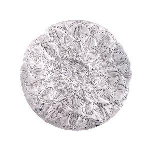 VANYA 66cm Wide Floral Petal Wall Art - Polished Aluminium