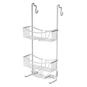 BETTER LIVING VENUS 3 Tier Over the Door  Shower Caddy - Aluminium Grey