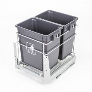 ELITE CACHER 34L Twin Slide-Out Concealed Waste Bin (for 40cm cupboard)